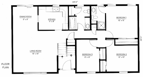 Bi level home plan the norwood the modular home group Bi level house plans with garage