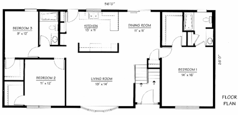 Bi Level - Springfield - 1,456 Square Feet