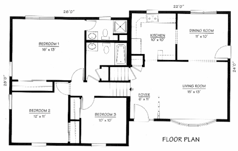 Split Level Floorplans on inside a 4 bedroom house